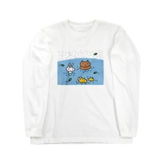水浴び Long sleeve T-shirts