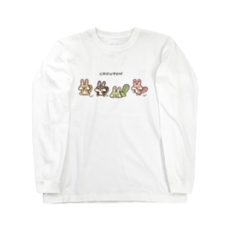 クルトンfriends【白フチなし】 Long sleeve T-shirts