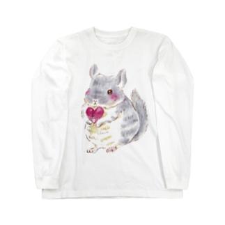きゅんきゅんチンチラ Long sleeve T-shirts