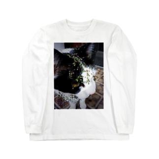 うちの猫〜泥棒猫フェイス〜 Long sleeve T-shirts