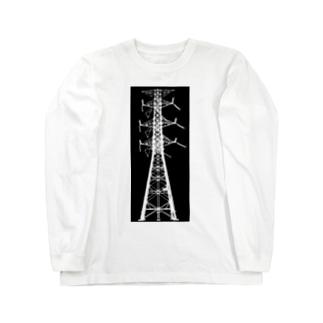 鉄塔No.22 Long sleeve T-shirts