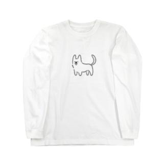 コーギー真っ白しっぽ Long sleeve T-shirts