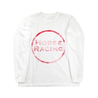 HORSE RACING Long sleeve T-shirts