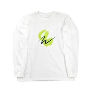 黄緑 アート デザイン Long sleeve T-shirts