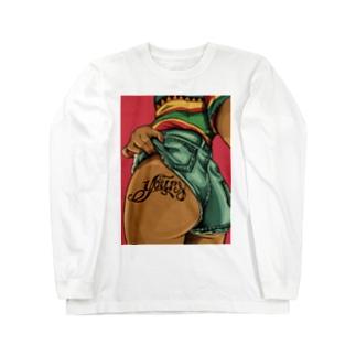 raggae お尻 Long sleeve T-shirts
