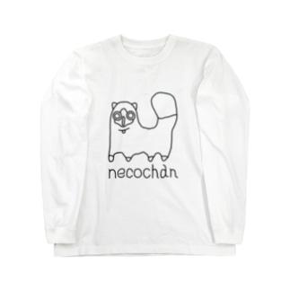 neco chan 黒 Long sleeve T-shirts