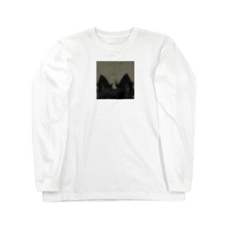 犬の耳のディティール Long sleeve T-shirts