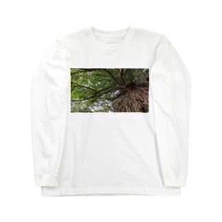 岩と木 Long sleeve T-shirts