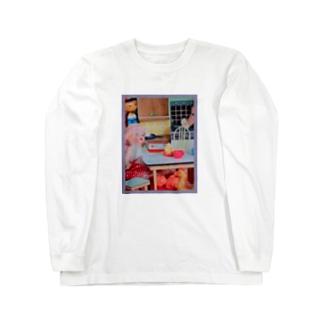 ダイニングキッチンカオス Long sleeve T-shirts