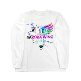 SAKURA WINGロゴ カラフル Long sleeve T-shirts