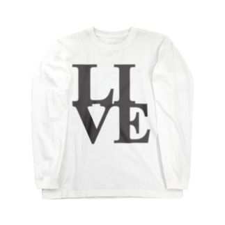 """Live"" POP-ART風 Long sleeve T-shirts"