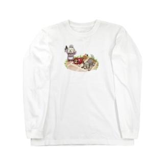 赤ずきん(クラウンチングスタート) Long sleeve T-shirts
