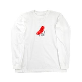 焼きソーセージ・ポチ Long sleeve T-shirts