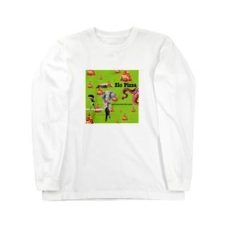 象と蛸ピザの時雨 Long sleeve T-shirts