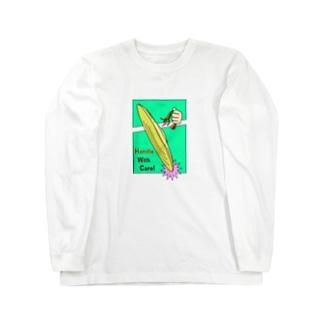 取り扱い注意(シンバル) Long sleeve T-shirts