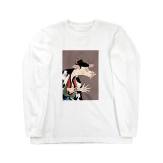 丑世絵 Long sleeve T-shirts