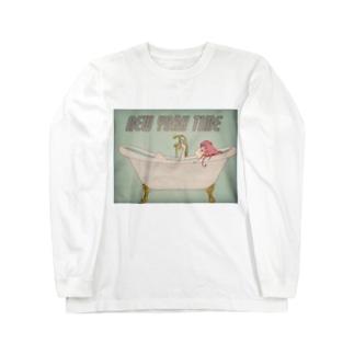 たゆたるのNEWYORK time(レトロチック) Long sleeve T-shirts