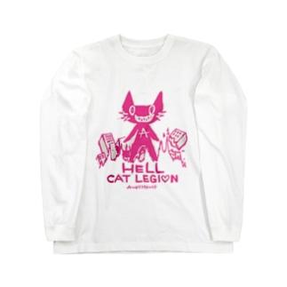 HELL CAT REGION Long sleeve T-shirts