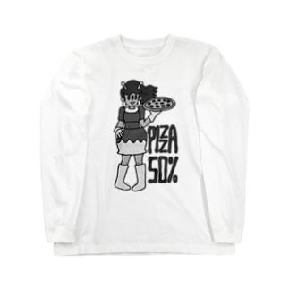 ピザガール50% Long sleeve T-shirts
