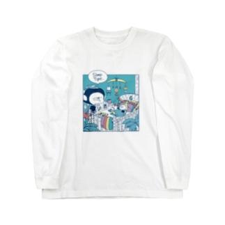 MINI BANANA 夜 Long sleeve T-shirts