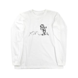 ron1モノクロ Long sleeve T-shirts