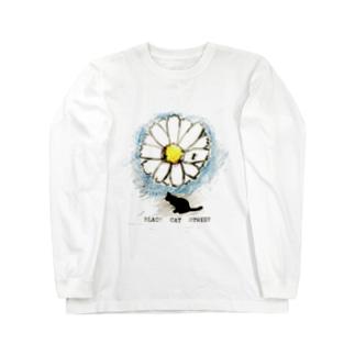 BLACK CAT STREET flower ant  T-shirt Long sleeve T-shirts