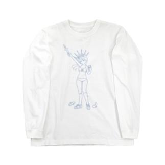 Feminism Enlightening the World Blue Line Long sleeve T-shirts