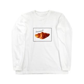 たゆたるのcroissant Long sleeve T-shirts