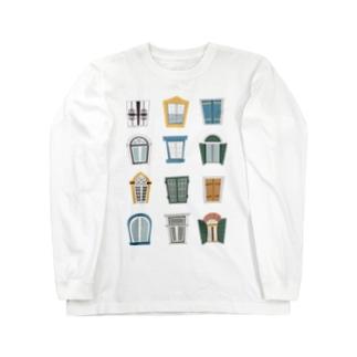 窓 まど mado Long sleeve T-shirts