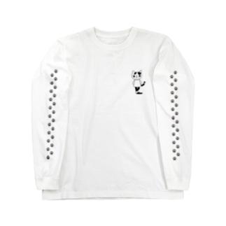かっきーJapanのねこのうーちゃん Long sleeve T-shirts