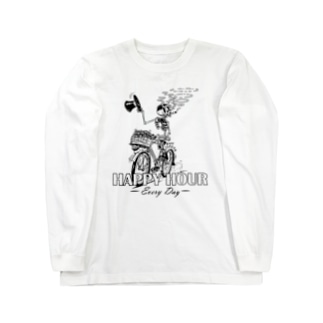 """HAPPY HOUR""(B&W) #1 Long Sleeve T-Shirt"