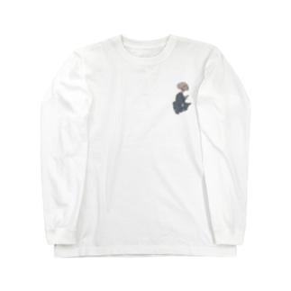 妖怪 ぬらりひょん(ワンポイント) Long sleeve T-shirts
