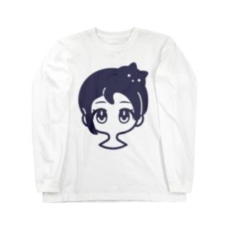 クロネコアタマ Long sleeve T-shirts