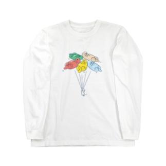 ラッッッコ「バルーン」 Long sleeve T-shirts