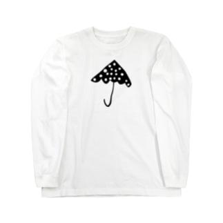 パラソル/黒 Long sleeve T-shirts