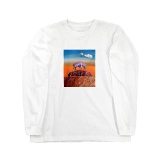 エアーズロックにそびえたつレインボージブラ 冬物 Long sleeve T-shirts