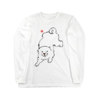 長沢芦雪の「あの犬」シリーズ Long sleeve T-shirts