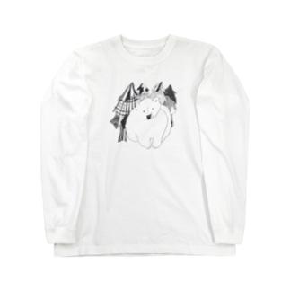 くま(森の中) Long sleeve T-shirts