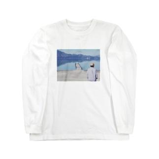湖と山 Long sleeve T-shirts