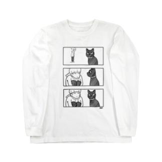 猫目線 Long sleeve T-shirts