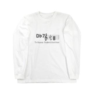 裏コード「D♭7-G7」(両面) Long sleeve T-shirts