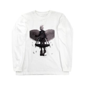 天使が黒い服着たっていい Long sleeve T-shirts