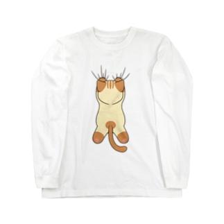猫ひっついてます Long sleeve T-shirts
