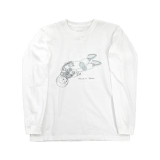 宇宙にひとりぼっち Long sleeve T-shirts