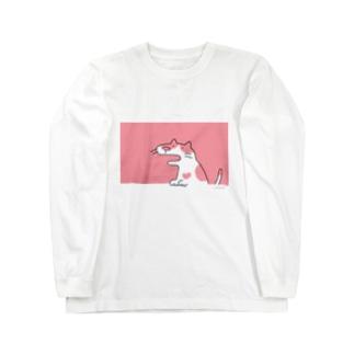 ぶちねこさん Long sleeve T-shirts