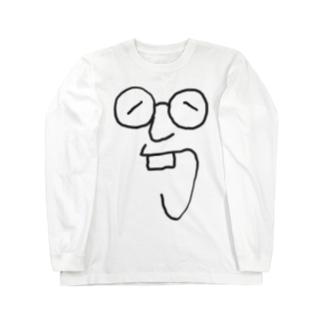 メガネ Long sleeve T-shirts