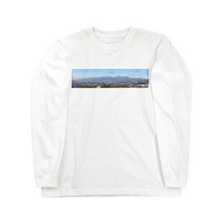 浅間山b Long sleeve T-shirts
