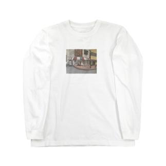 油絵 Long sleeve T-shirts