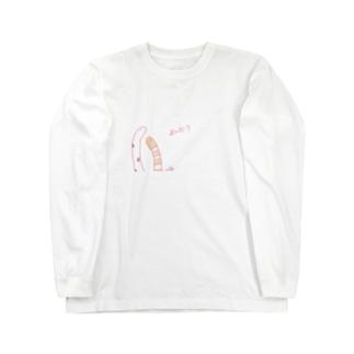 チンアナゴくんとニシキアナゴくん Long sleeve T-shirts