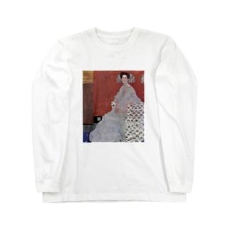 グスタフ・クリムト(Gustav Klimt) / 『フリッツア・リードラーの肖像』(1906年) Long sleeve T-shirts